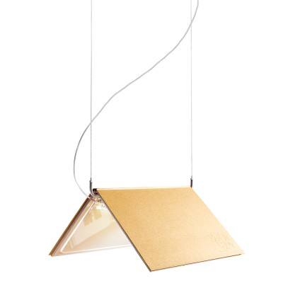 lujan + sicilia 03 BOOKLAMP LED Drop Pendant Lamp Gold