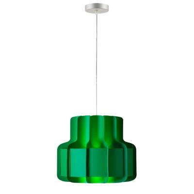 luján + sicilia 15 BANDA Drop Pendant Lamp Green