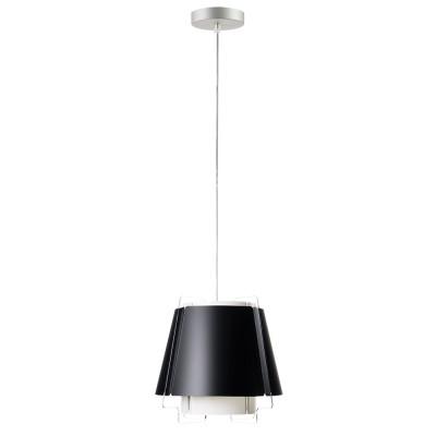 lujan + sicilia ZONA 22 lampara pequeña techo colgante negra color negro