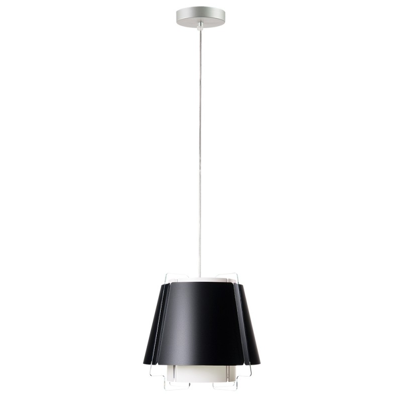 lujan + sicilia 03 Small ZONA Drop Pendant Lamp Black