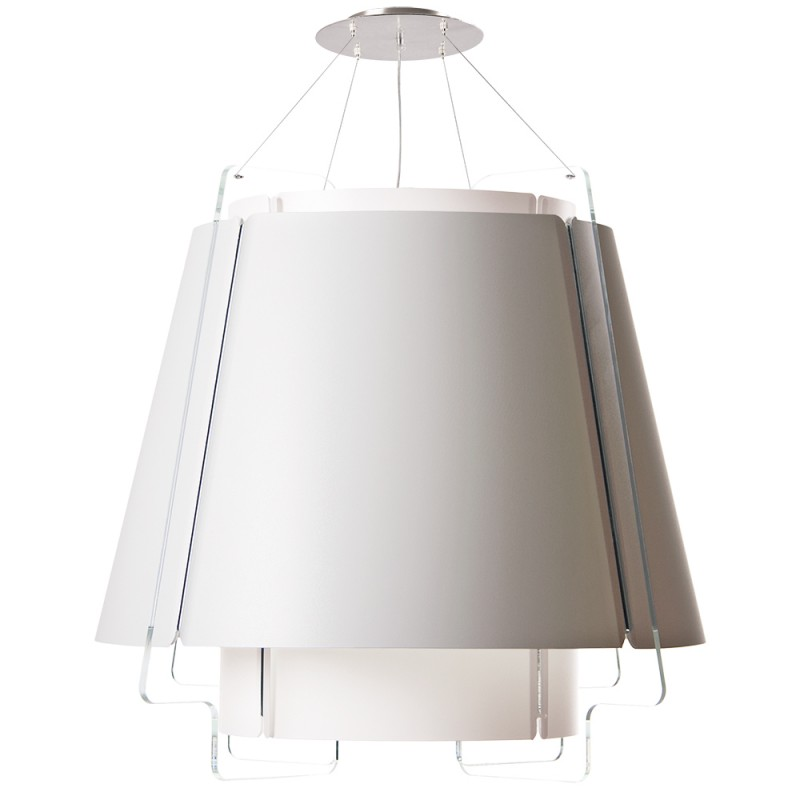 lujan + sicilia 04 Large ZONA Drop Pendant Lamp White