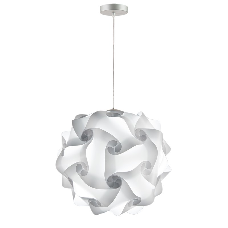 lujan + sicilia Medium Sized 42 cm COL Modular Drop Pendant Lamp White