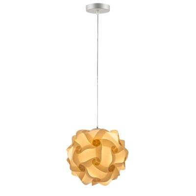 lujan + sicilia COL 27 mini sized drop pendant lamp beige parchment paper finish pequeña lampara techo colgante acabado papel pergamino crema pendelleuchte luminaire