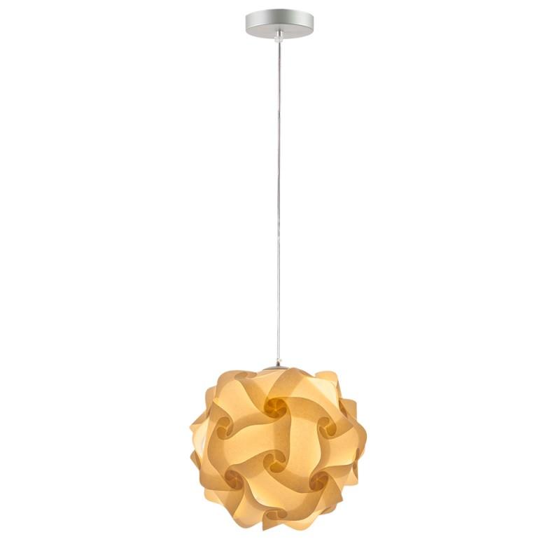 lujan + sicilia 05 Small 27 cm COL Modular Drop Pendant Lamp Beige Parchment Paper