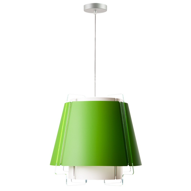 lujan + sicilia 12 Medium Sized ZONA Drop Pendant Lamp Lime Green