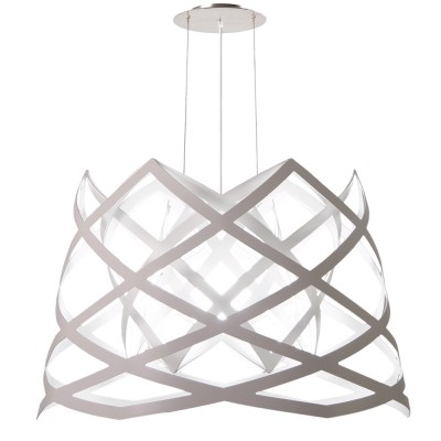 luján + sicilia 04 RUT Large Drop Pendant Lamp White