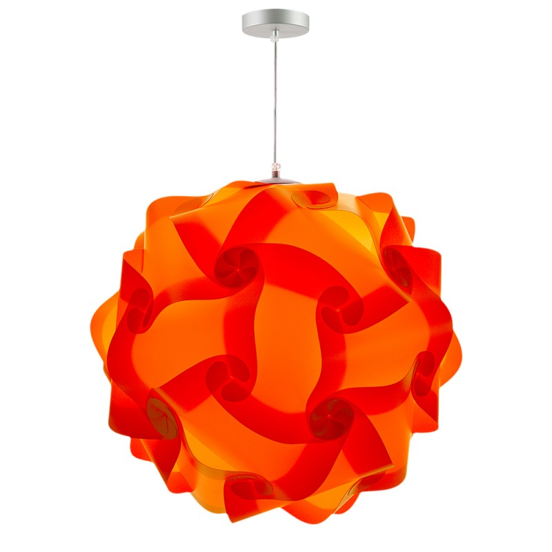 lujan + sicilia 06 Large 70 cm COL Modular Pendant Lamp Orange