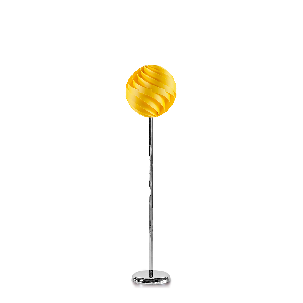 lujan + sicilia TWISTER 35 Floor Lamp Yellow