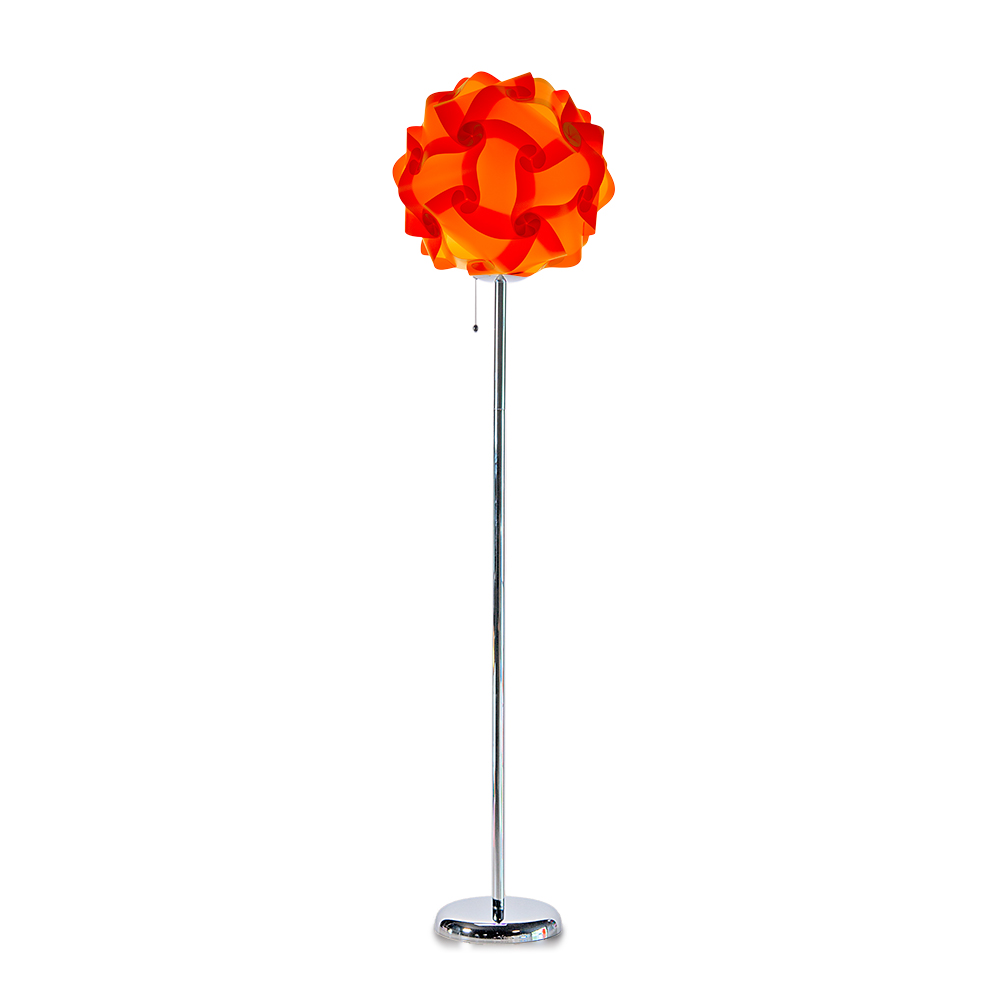 lujan + sicilia COL 42 Floor Stand Lamp Orange