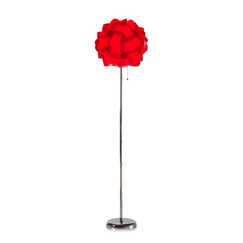 lujan + sicilia COL 42 Floor Stand Lamp Red