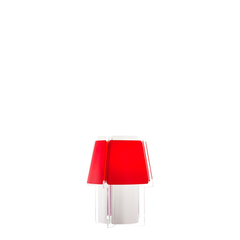 lujan + sicilia Small ZONA Wall Sconce Lamp Red