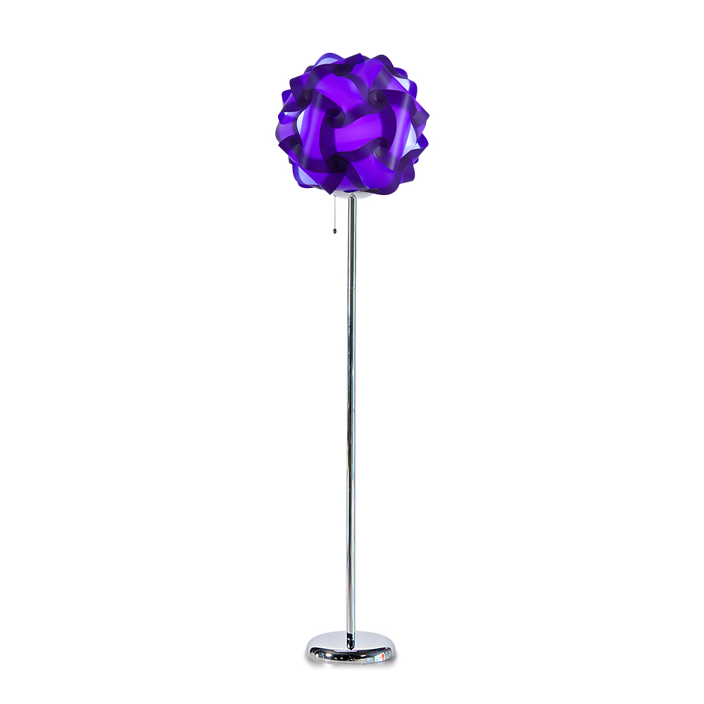 lujan + sicilia COL 42 Floor Stand Lamp Purple