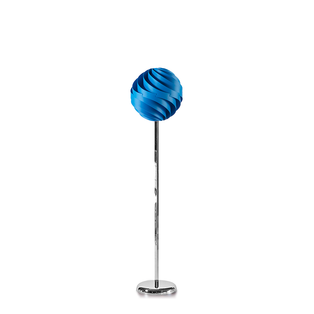lujan + sicilia TWISTER 35 Floor Lamp Blue