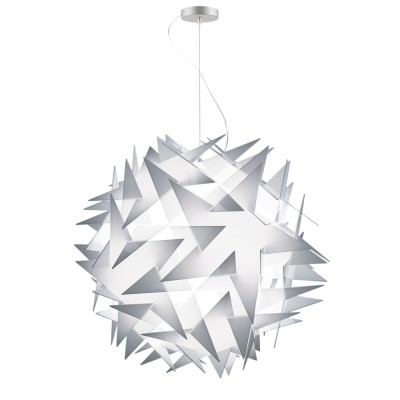 lujan + sicilia BISOLITE 070 Drop Pendant White Opal Star Shaped Lamp