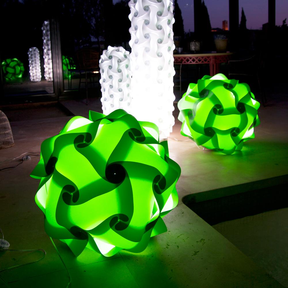 lujan + sicilia COL Floor Lamp Ambient in green color