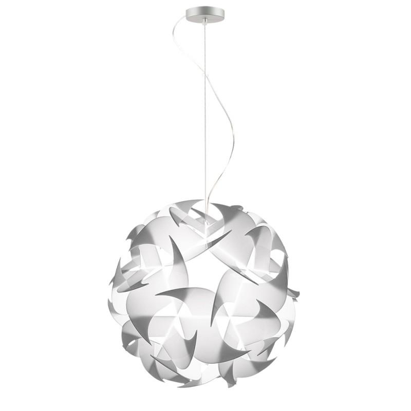 lujan + sicilia GEIGERLITE 047 Drop Pendant White Opal Lamp