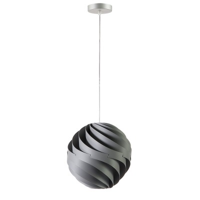 lujan + sicilia Small 27 cm TWISTER Drop Pendant Lamp Opaque Grey
