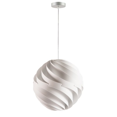 lujan + sicilia Large 35 cm TWISTER Drop Pendant Lamp White