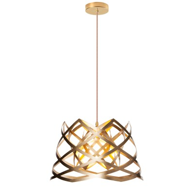 luján + sicilia 03 Small RUT Drop Pendant Lamp Gold
