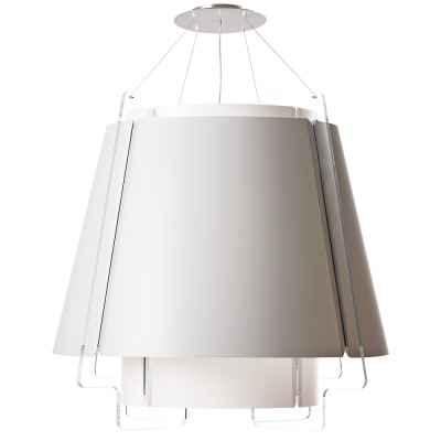 lujan + sicilia Large ZONA Drop Pendant Lamp White