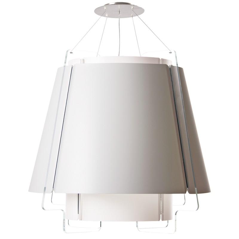 lujan + sicilia Large ZONA Drop Pendant Lamp White