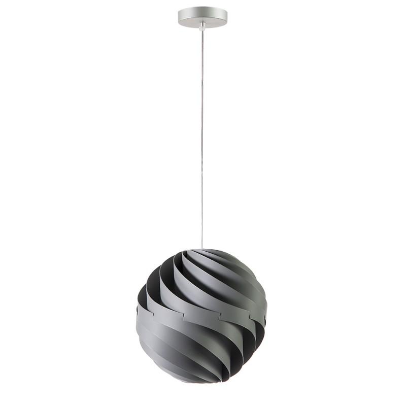 lujan + sicilia Small 27 cm TWISTER Drop Pendant Lamp Opaque Grey
