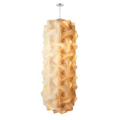 luján + sicilia Medium Sized 140 cm QUISCO Modular Drop Pendant Lamp Beige Parchment Paper