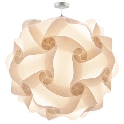 lujan + sicilia COL 100 oversized pendant lamp white parchment paper lampara gigante techo colgante papel pergamino blanco