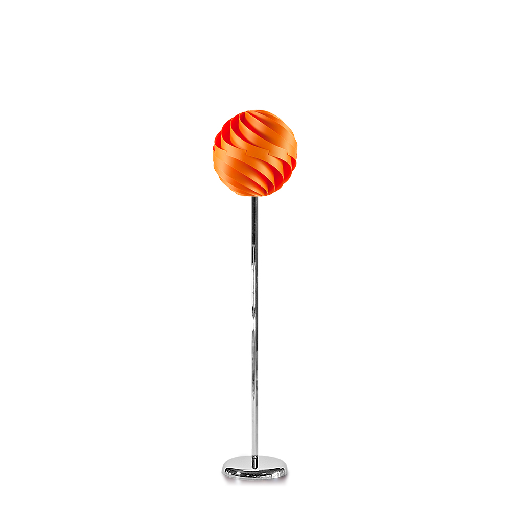 lujan + sicilia TWISTER 35 Floor Lamp Orange
