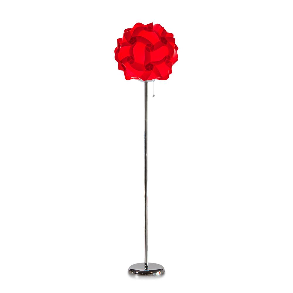 lujan + sicilia COL 42 Floor Stand Lamp Red