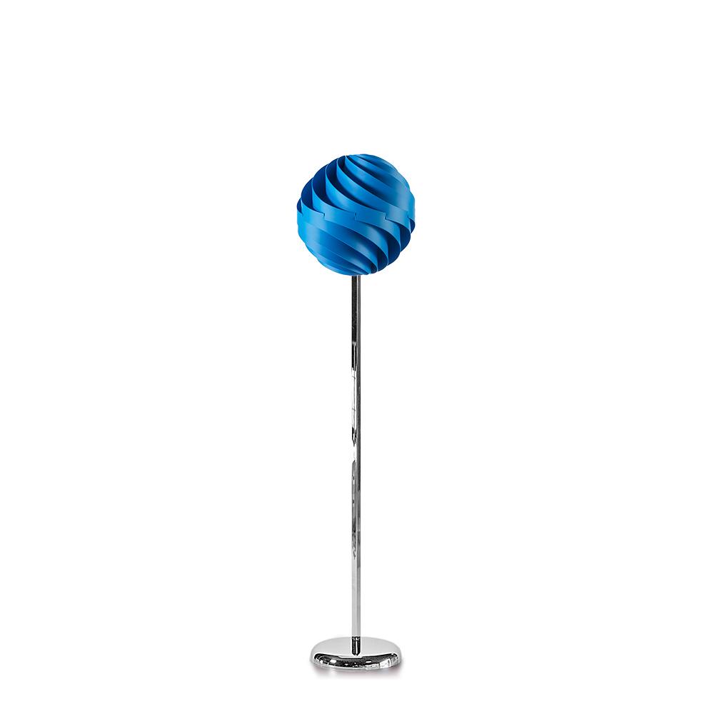 lujan + sicilia TWISTER 35 Floor Lamp Blue