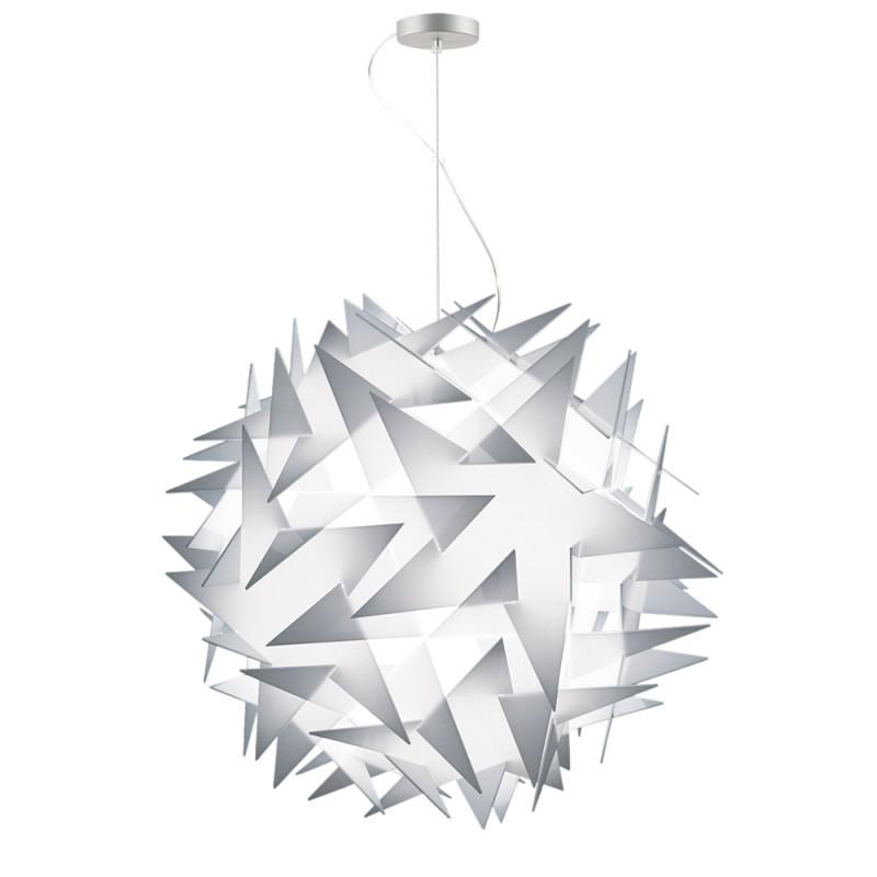 lujan + sicilia BISOLITE 070 Drop Pendant White Opal Star Shaped Lamp