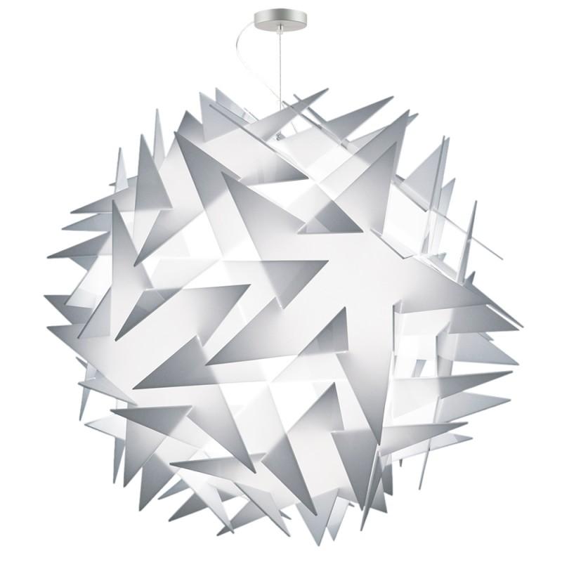 lujan + sicilia BISOLITE 130 Drop Pendant White Opal Lamp