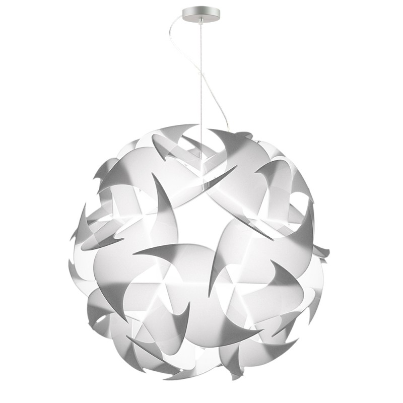 lujan + sicilia GEIGERLITE 120 Drop Pendant White Opal Lamp